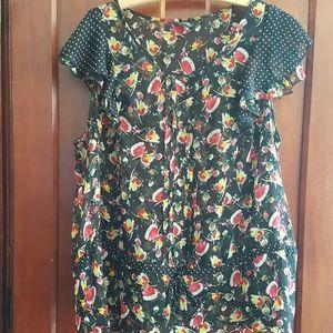 NWOT 3 XL sheer blouse
